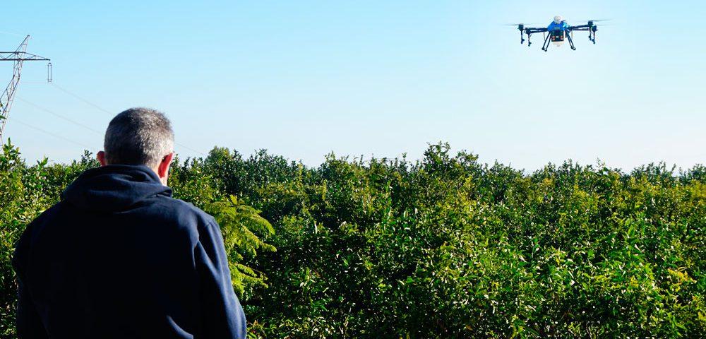 Aplicaciones con dron agrícola