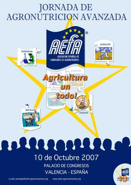 Nuevo cartel promocional de la Jornada de Agronutricion Avanzada de AEFA