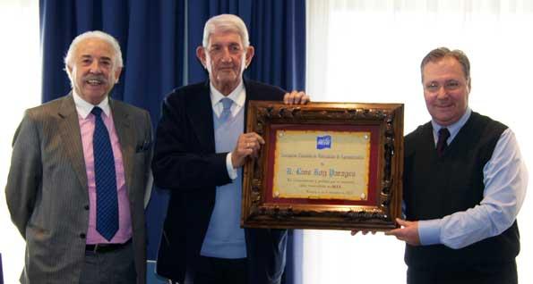 D. Francisco Ponce, D. Luis Roy y D. Ricardo Villuendas