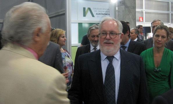 Francisco Ponce y el ministro de agricultura Arias Cañete