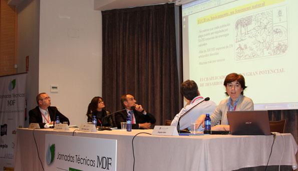 Ángeles Adán durante su conferencia sobre Control biológico de plagas
