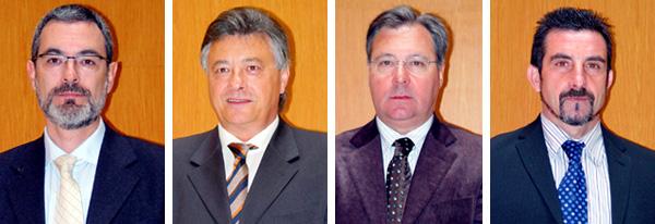 Alberto Morera, Manuel Salguero, Ricardo Villuendas and Néstor Contell