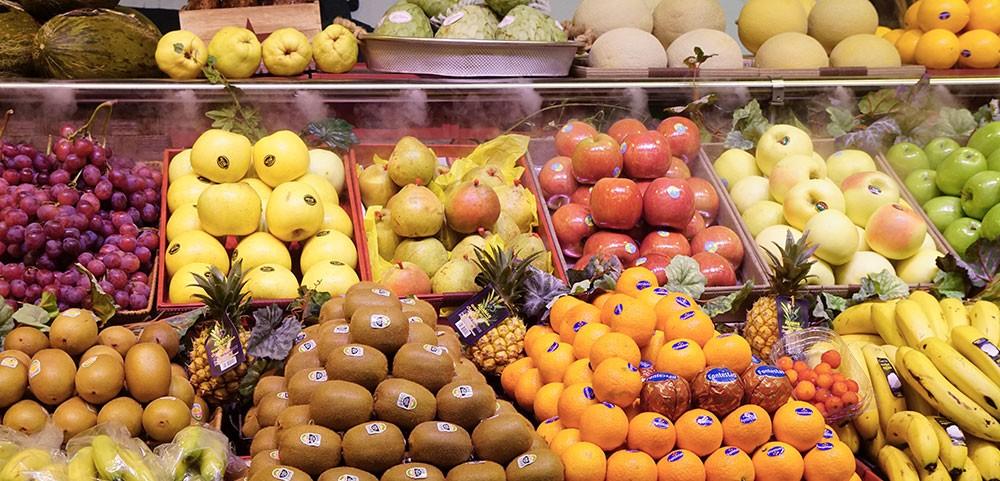 Lineal de frutas y hortalizas