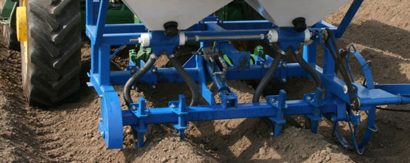 Aplicación localizada de fertilizante en profundad