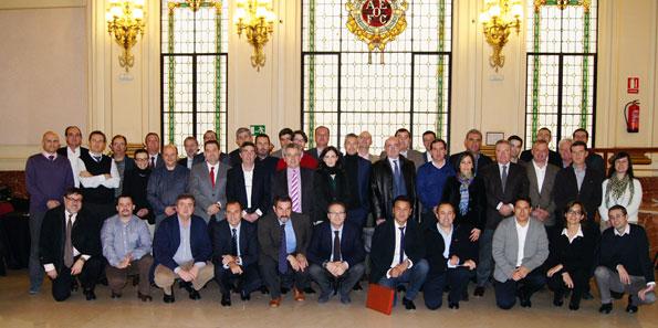 Miembros de AEFA asistentes a la Asamblea de Madrid