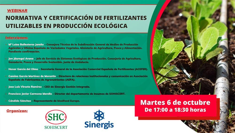 Normativa y certificación de fertilizantes en producción ecológica