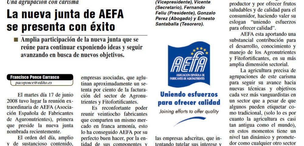 Presentación de la nueva junta directiva de AEFA