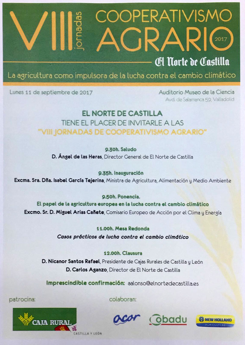 Programa de las VIII Jornadas de Cooperativismo Agrario