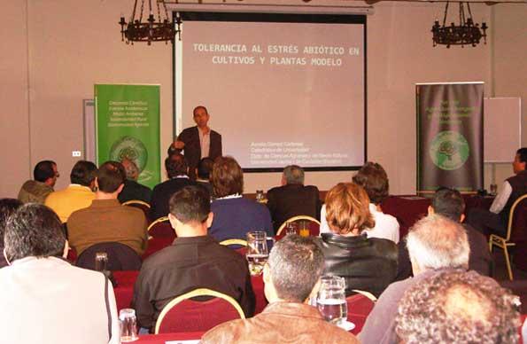 D. Aurelio Gómez en un momento de su presentación