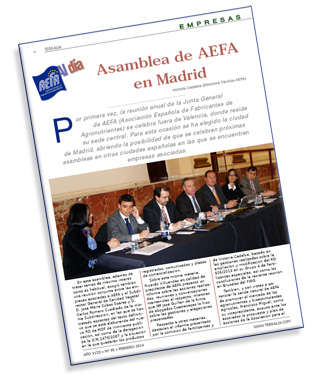 Terralia y la asamblea de AEFA en Madrid